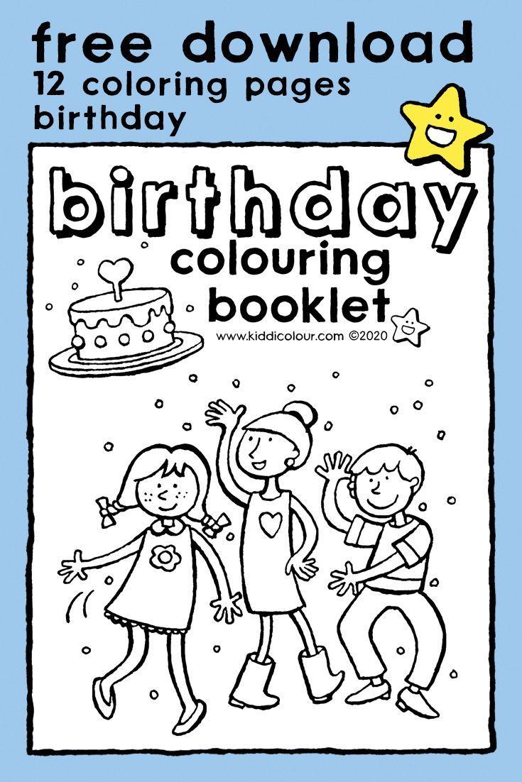 Birthday Colouring Booklet Kiddicolour Birthday Coloring Pages Booklet Coloring Pages
