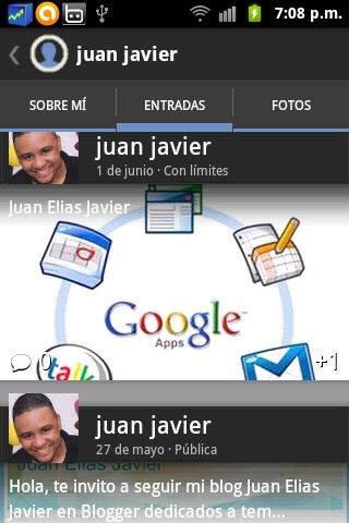 Juan Elias Javier: Compartir en Google Plus Mis Post