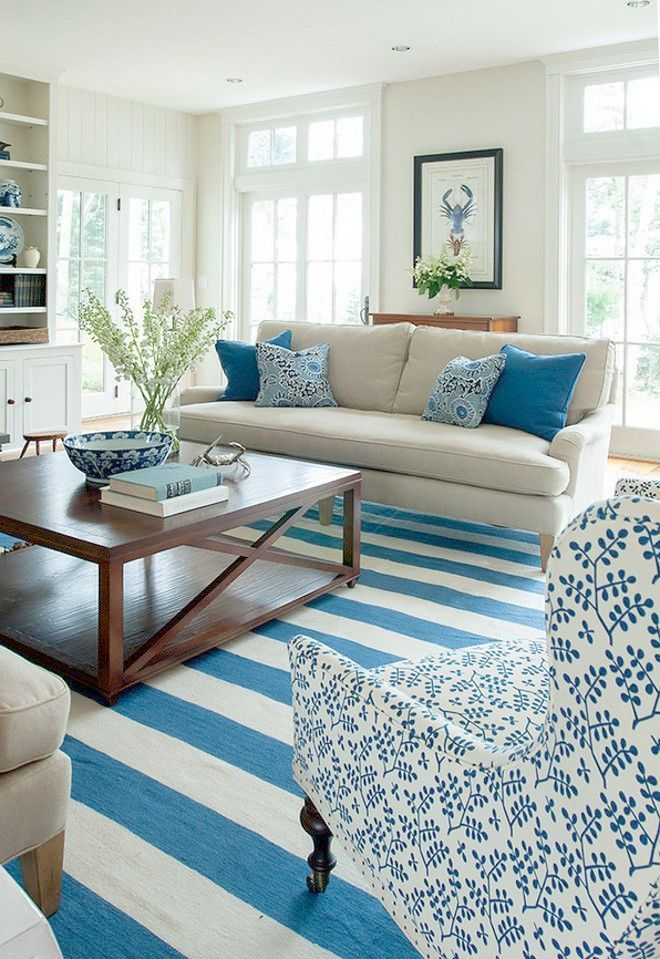 Coastal Style Sectional Sofas Beach Cottage Interior Design Ideas
