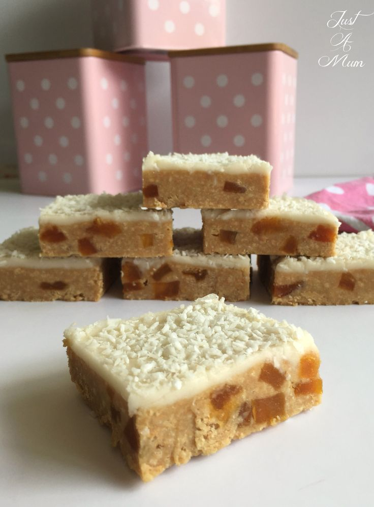 No-Bake Apricot Slice - Just A Mum