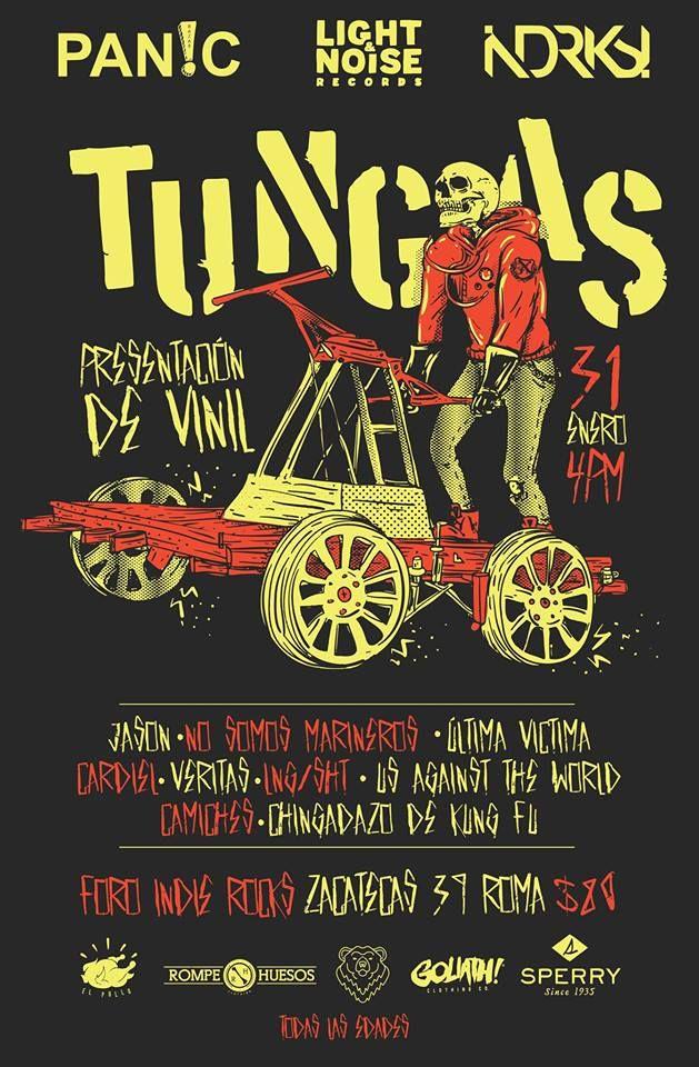 """Tungas – Foro Indie Rocks!  31 de Enero  Presentación de el Vinil """"Vamos perdiendo el corazón"""""""