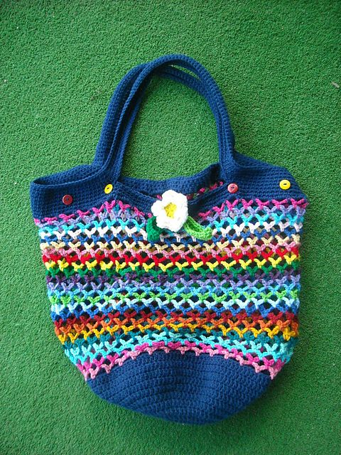 Crochet Market Bag Pattern Free : Market bag - free pattern. #crochet Free Crochet Patterns Pintere ...