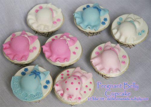 pregnant belly cupcake, via Flickr.