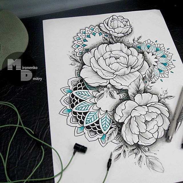 #tattoosketch #dotwork #mandala #ornamentaltattoo #ornamental #tattoodesign #mandala #flowers #sketch #drawing #tattooart