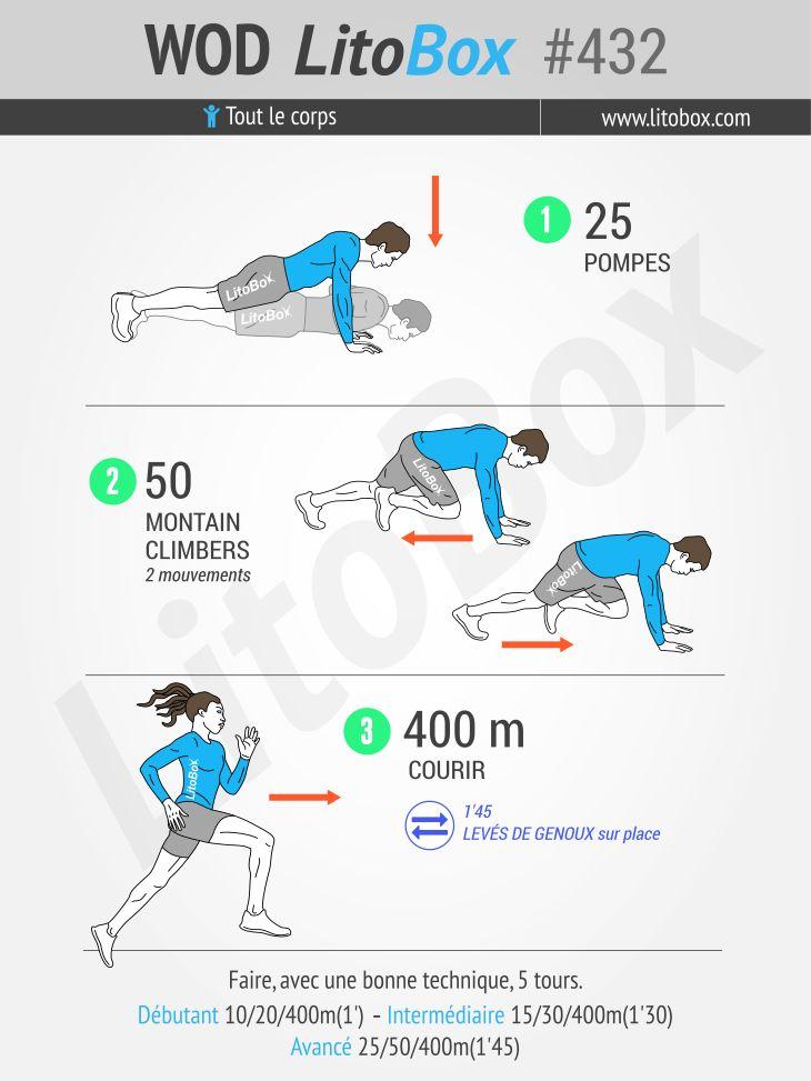 Un circuit training musculation / cardio qui va vous donner la patate !  Épinglez cet entraînement pour le faire plus tard.  Bon courage.  Pierre.