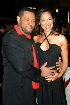 Laurence Fishburne & wife, Gina Torres   Love On Lock ...