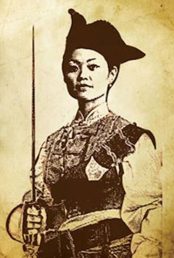 Ching Shih (or Zheng Shi) was a Chinese prostitute, working on a floating brothel in Canton, who became a powerful female pirate, controlling the infamous Red Flag Fleet. The fleet grew under her command, with expanding reserves of loot, and an organized system of business. Eventually, Ching Shih sought amnesty when offered by the Chinese government, but not without first negotiating to maintain the riches and power she earned as a pirate lord.