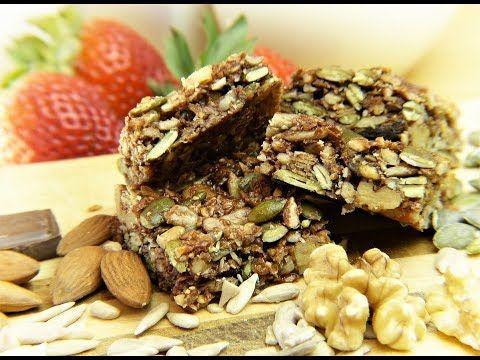 Recette de barres énergétiques maison facile - Barres granola protéinées.
