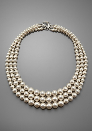 2de4122b9f44 Just ordered - on sale for Black Friday! 3 strand graduated pearl necklace  by Demoiselle   Clutch Your Pearls   Pinterest   Pearls, Pearl Necklace and  ...
