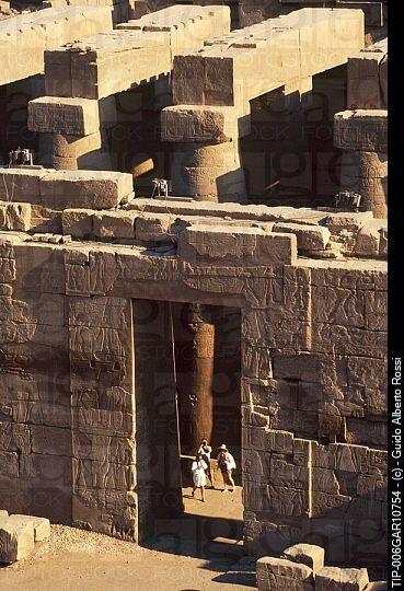Africa, Egypt, Luxor, Karnak temple, aerial view