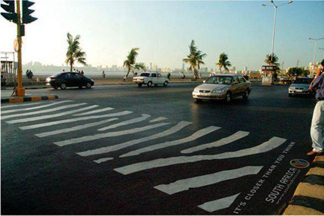 A REAL Zebra Crossing