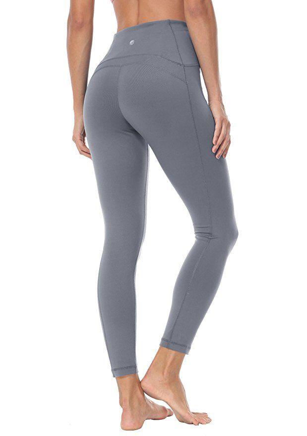 689ac9ea32 Queenie Ke Women Yoga Leggings Ninth Pants High Waist Power Flex Running  Gym Tights: Amazon