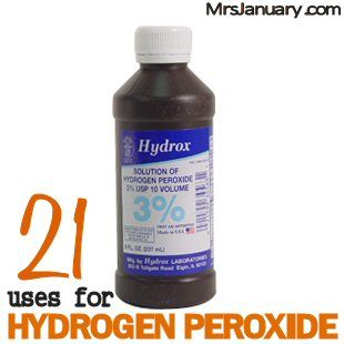 21 Uses for Hydrogen Peroxide via MrsJanuary.com - If you don't use this amazing product, you need to start, because there are so many ways that you can use it around your home!