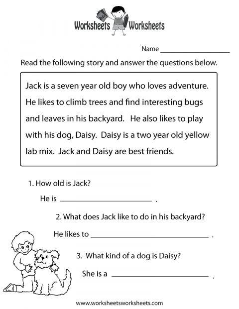 Free Printable Worksheets Reading Comprehension 5Th Grade ...