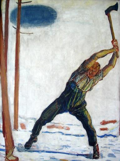 Ferdinand Hodler - Le Bûcheron