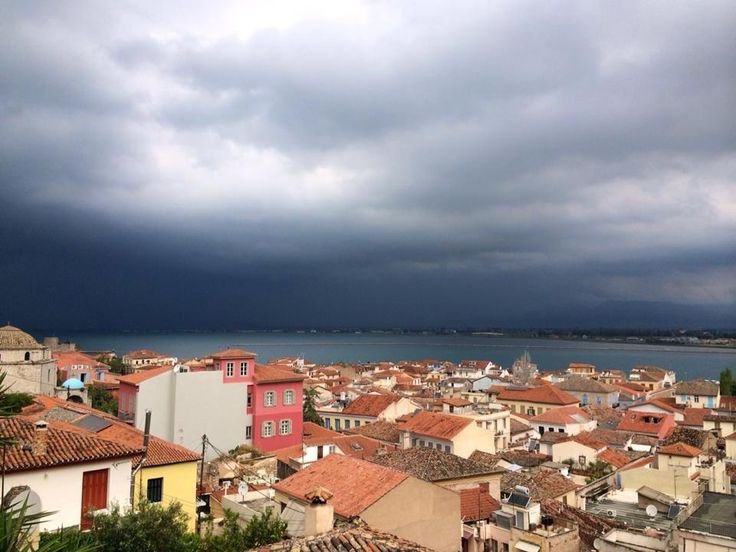 before the rain,  view from our terrace!!