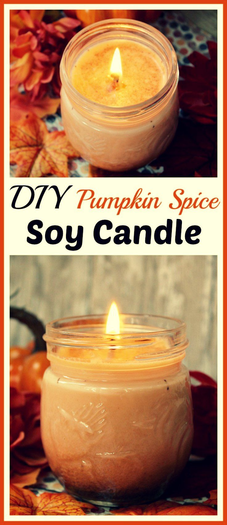 - DIY Pumpkin spice soy candle -  This homemade pumpkin spice candle is a soy candle, which means its much safer than traditional paraffin candles. Paraffin wax candles produce soot, and also emit harmful chemicals like benzene and toluene. Soy candles also burn longer than paraffin candles. So they're safer and last a longer time. What's not to love!  #candles #velas #DIY #pumpkin #calabaza #soy #soja  via: @acultivatednest