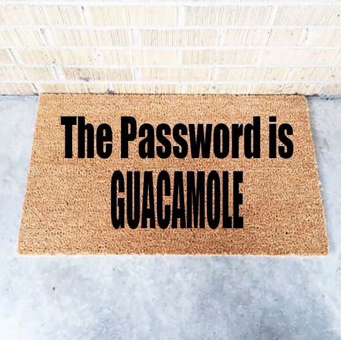 Guacamole   Funny Doormat   Doormats  Front Porch Decor   Guac   Door Mat