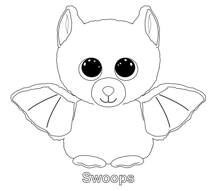 midnight beanie boo coloring pages printable and coloring book to print for free find more coloring pages online for kids and adults of midnight beanie boo - Cute Halloween Bat Coloring Pages