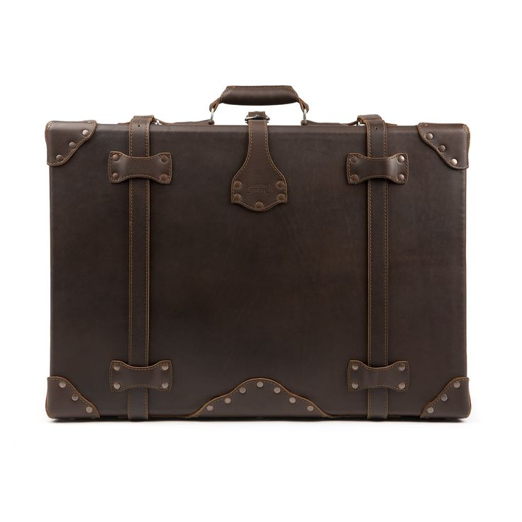 Saddleback Leather Large Suitcase in Dark Coffee Brown