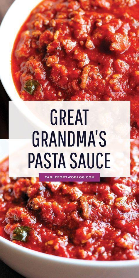 great grandma s pasta sauce moms kitchen dinner dinnerrecipes pasta pastasauce italian on hebbar s kitchen white sauce pasta id=61768