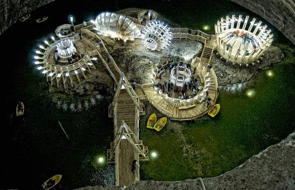 Natural wonders - Turda Salt Mine Romania 1
