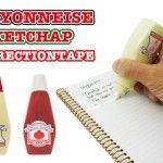 ケチャップ&マヨネーズの修正テープ【CORRECTION TAPE】