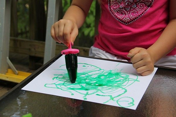 Popsicle Paint: Ice Paintings, Cute Ideas, Popsicle Paintings, Fine Motor, Popsicles Paintings