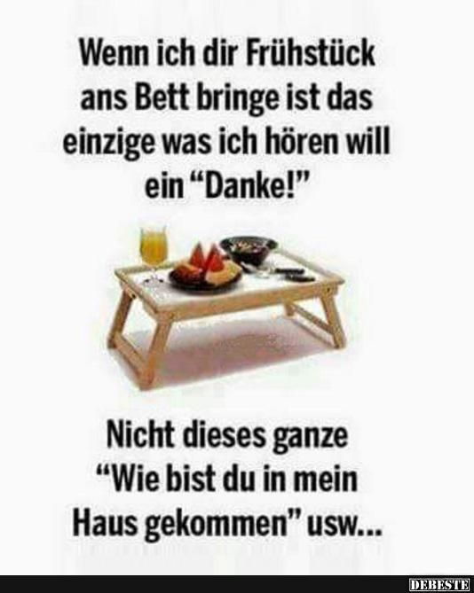wenn ich dir fr hst ck ans bett bringe schwarzer humor pinterest bett fr hst ck und. Black Bedroom Furniture Sets. Home Design Ideas