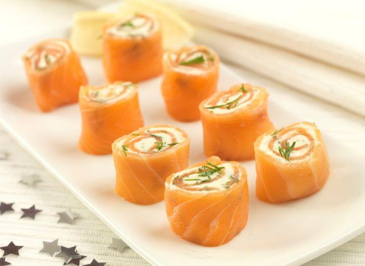 Salmon Wheels Xmas party food recipe