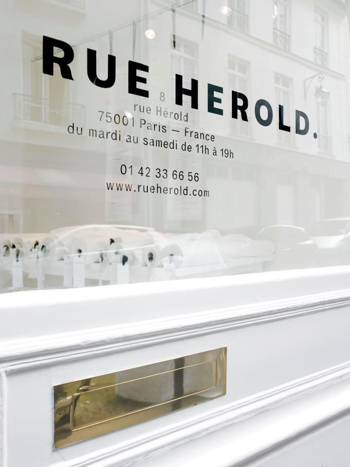 rue herold storefront -chic fabric store in Paris