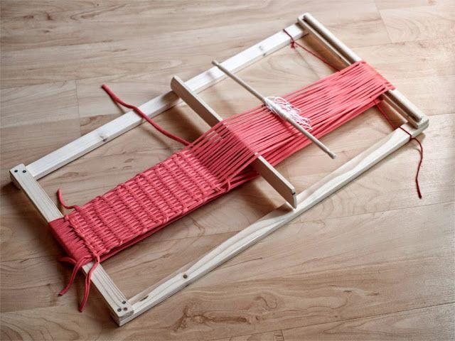 PUNTOBOBO Agujas de madera artesanales para tejer: Telar Mapuche + trapillo!