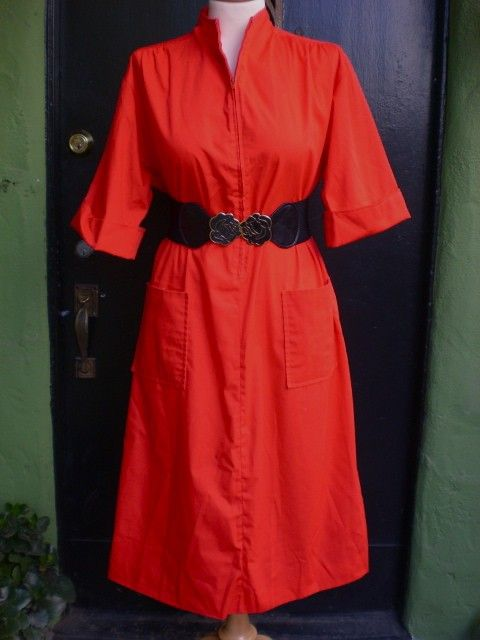 Vintage 60s Cherry Red Zip Up Cuffed by PlayhouseVintageShop, $28.00