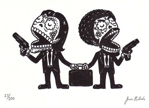 pop culture Day of the Dead art from Jose Pulido