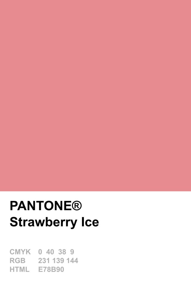 Pantone 2015 Strawberry Ice