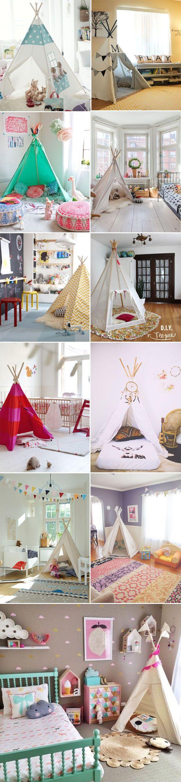 Oi gente! Um objeto/detalhe que tem me chamado atenção, e está aparecendo bastante nos blog por aí, são as tendas nos quartos de criança! Vocês já viram como fica a a fofo?! Criança adora brincar d...