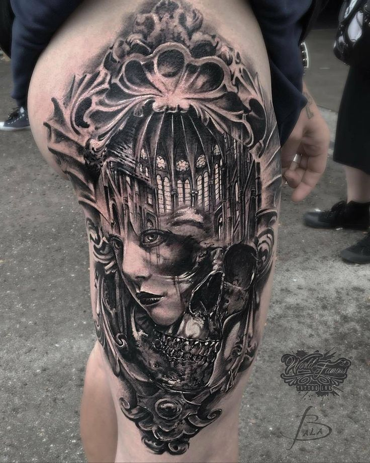 Skull Face Cathedral by @fabiofilipponeaosta in Aosta, Italy. #skull #face #cathedral #arches #morph #fabiofilipponeaosta #aosta #italy #tattoo #tattoos #tattoosnob http://ift.tt/2tq6kYu