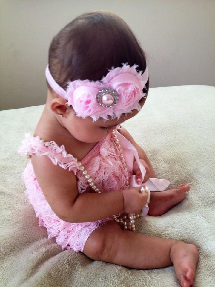 Light Pink Vintage Lace Petti Romper - Newborn - Baby Girl - Toddler- birthday outfit- valentines day outfit- photo prop. $19.95, via Etsy.