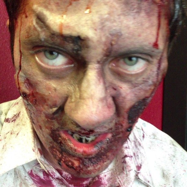 GoZombie!! I made many Zombies today! Fun! SFX Makeup by me Tai Shane, Tai MUA. Too bad we don't have contact lens on time for the shoot. 😱😱😱😱😱💀💀💀💀💀👏 #zombie #walking dead #movie #indiefilm #makeupartist #sfxmakeup #sfx #3dtranfer #mold #sculpting #sculptingtool #scar