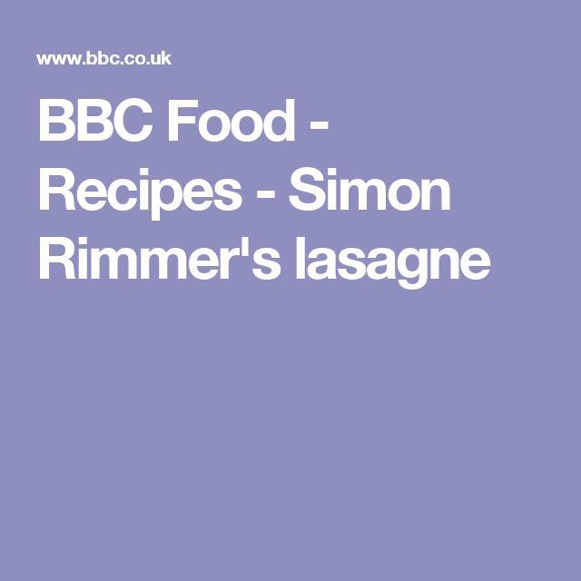 BBC Food - Recipes - Simon Rimmer's lasagne