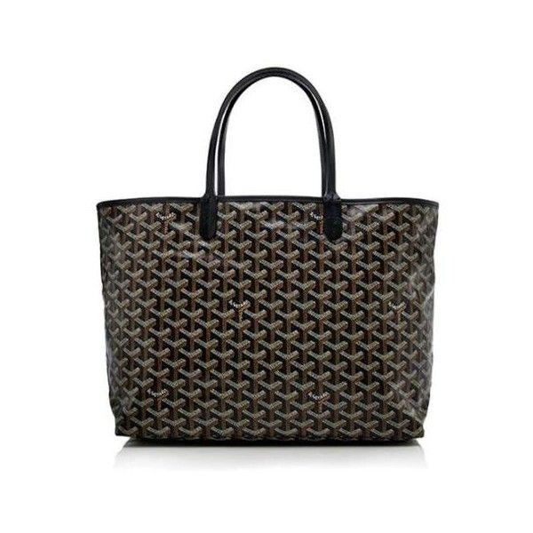 Rental Goyard St. Louis PM Tote (3,330 MXN) ❤ liked on Polyvore featuring bags, handbags, tote bags, black, goyard purse, goyard tote, handbags totes, canvas tote bag and goyard