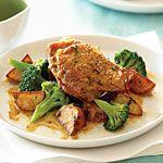 Roast Chicken with Vegetables Recipe | MyRecipes.com