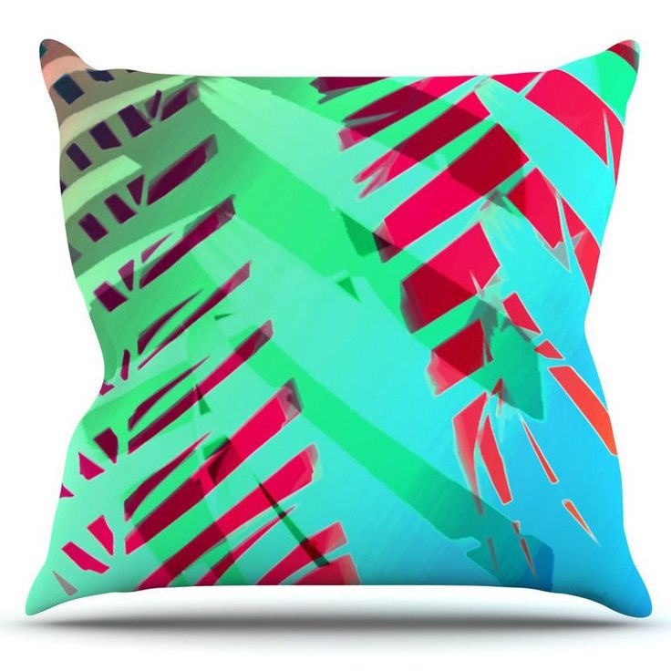 Tropical by Alison Coxon Outdoor Throw Pillow