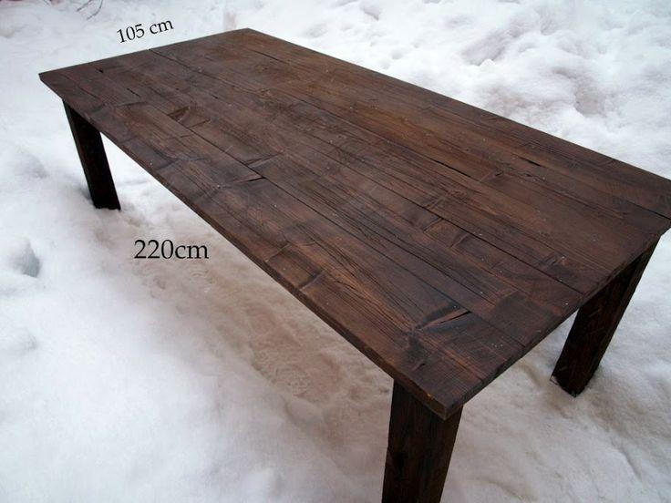 vanhaa käytettyä puuta kierrätyspuu ruokapöytä