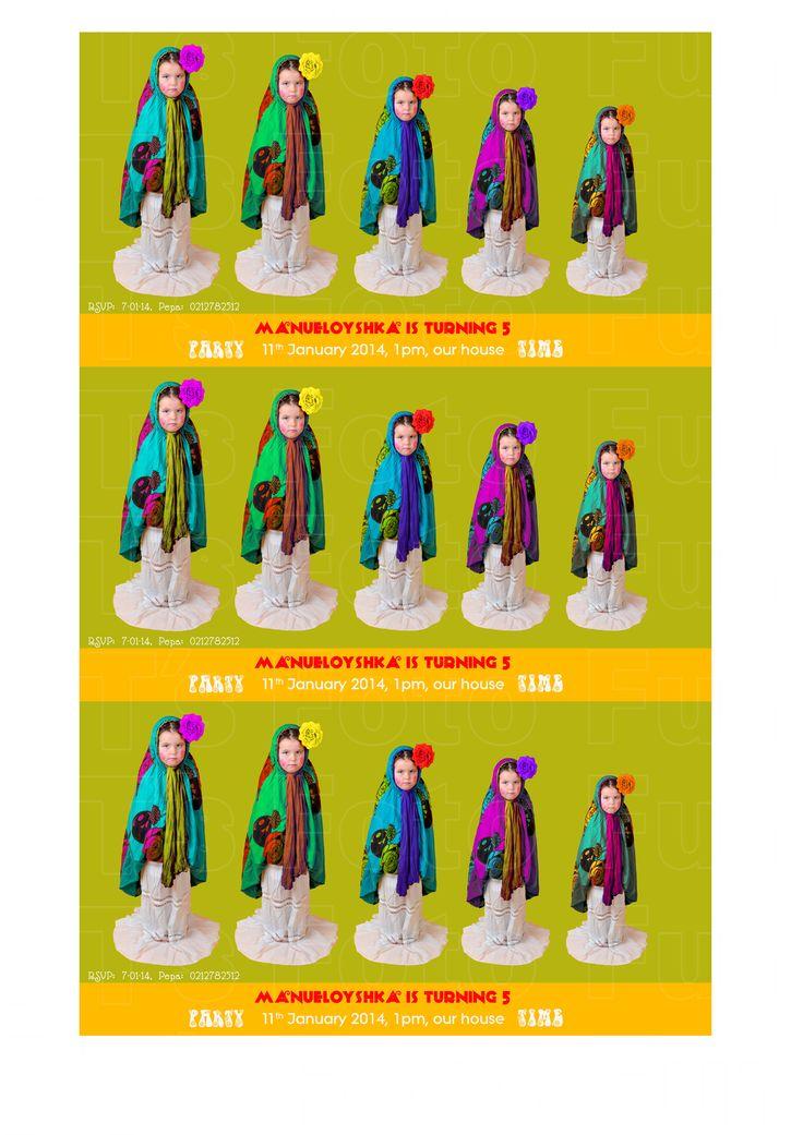 Matrioshka costume from PT´s Foto Fun (Russian doll) Birthday card