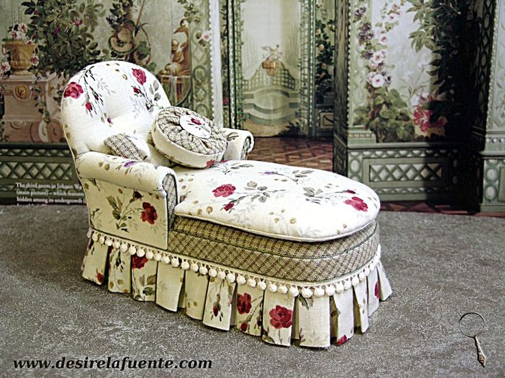 1 12 Scale Chaise Longue Doll House Miniatures