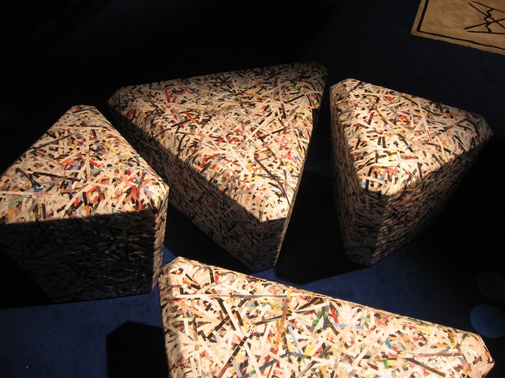 Shredded Paper Chairs Love Milan Furniture Show