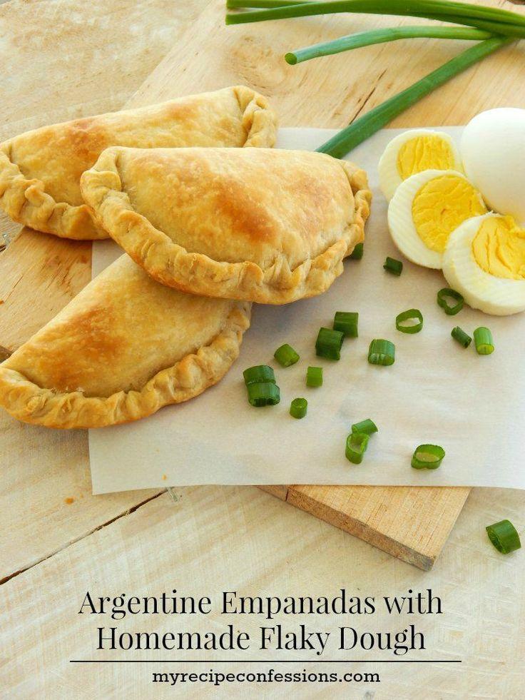 Argentine Empanadas with Homemade Flaky Dough #empanadas #argentinian  #recipes