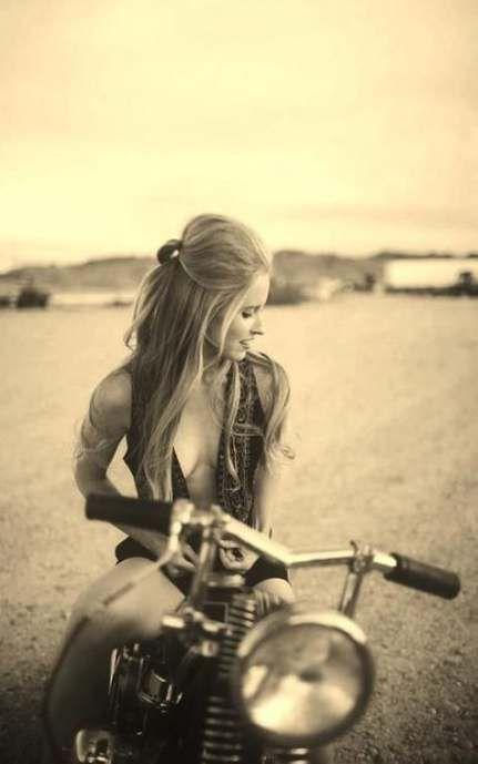 Vintage Motorrad Girl Biker Chick Cafe Racer 70+ Super Ideen …   – Motor