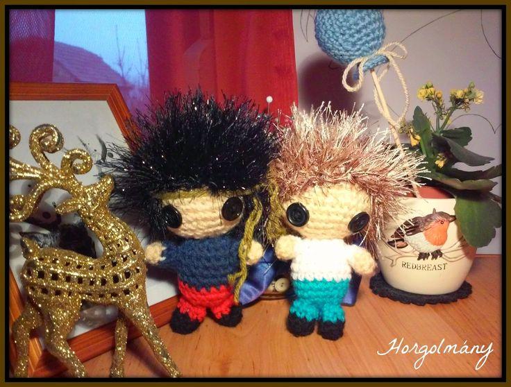 Horgolmány, crochet doll, horgolt baba